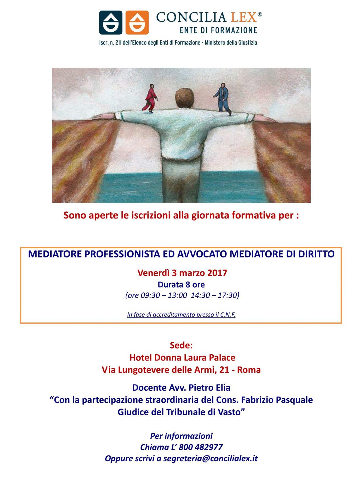 Giornata formativa speciale Concilia Lex a Roma venerdì 3 marzo